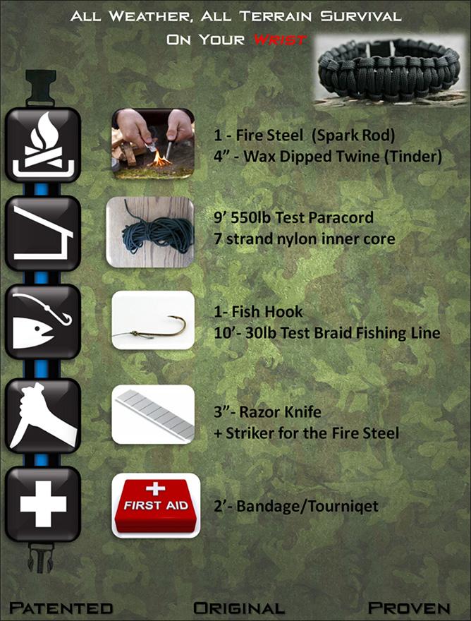 Bracelet en paracord HeroStrap